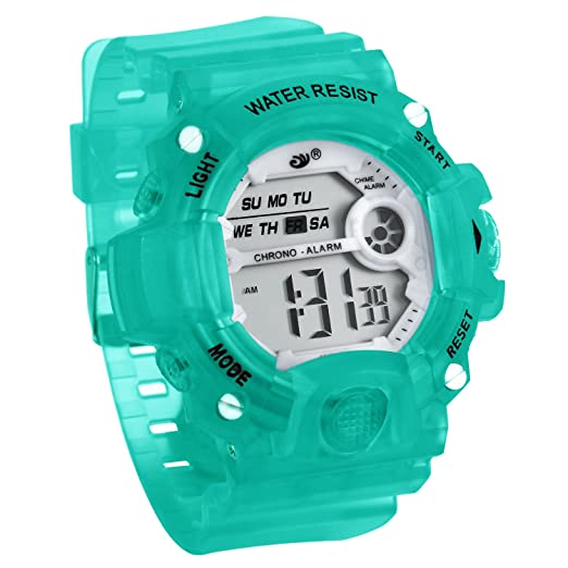 JewelryWe Relojes para Niños Niñas Reloj Deportivo Digital Para Aire Libre Reloj Infantil Verde, 3ATM A Prueba de Agua Buen Regalo: Amazon.es: Relojes
