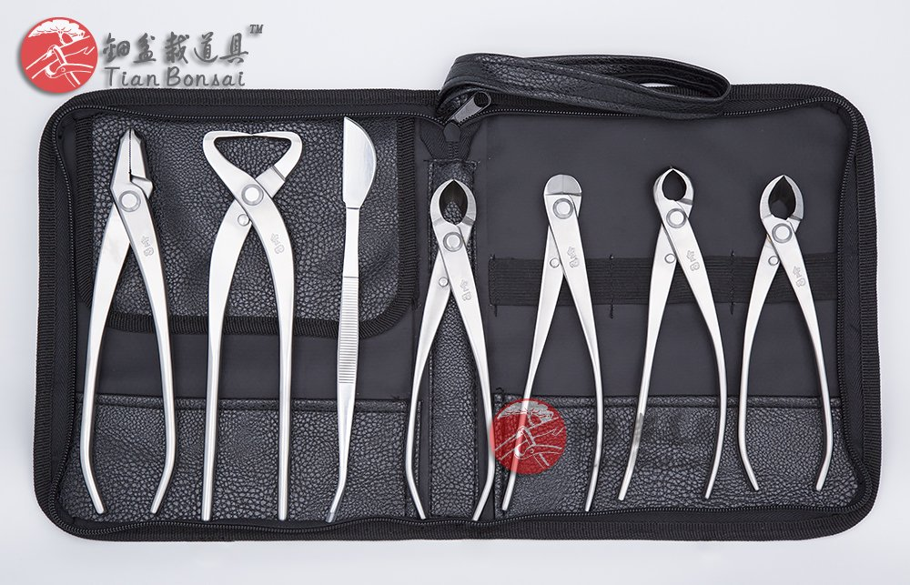 7 Pcs Bonsai Tool Kit JTTK-05 Master's Grade Bonsai Tools From TianBonsai by Master Grade Bonsai Tool Kit