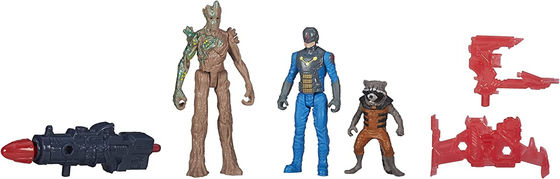 Marvel Guardians of The Galaxy Groot, Rocket Raccoon and Nova ...
