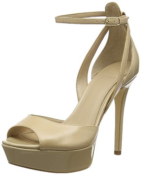 Guess Laurele (Sandal)Leath, Scarpe con Cinturino alla Caviglia Donna