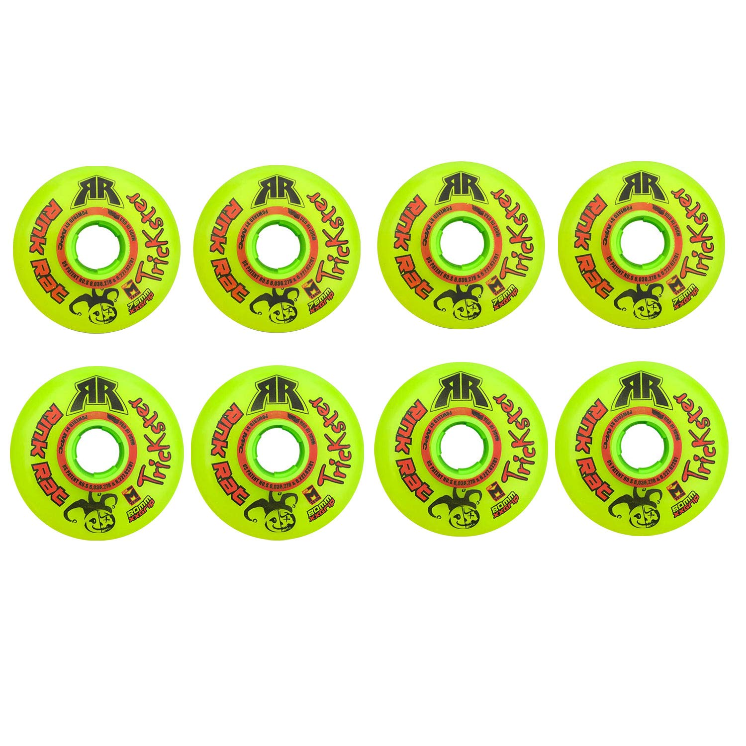 Rink Rat Wheels 80mm / 76mm Hilo 79A Trickster XX Inline Indoor Roller Hockey