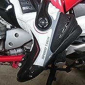MODEKA SPEED TECH Semi-Sport Motorrad Stiefel schwarz weiß Verstärkungen mit CE