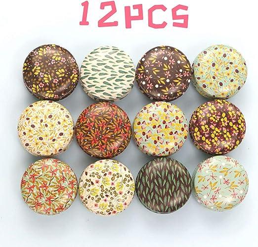 FineInno 12PCS Latas Metal Galletas Candle Jar Latas Metalicas Pequeñas de Aluminio Vacias Te Caja Metal Vintage ...