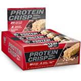 BSN Protein Crisp Bar by Syntha-6, Low Sugar Whey Protein Bar, 20g of Protein, Mocha, 12 Count (Packaging may vary)