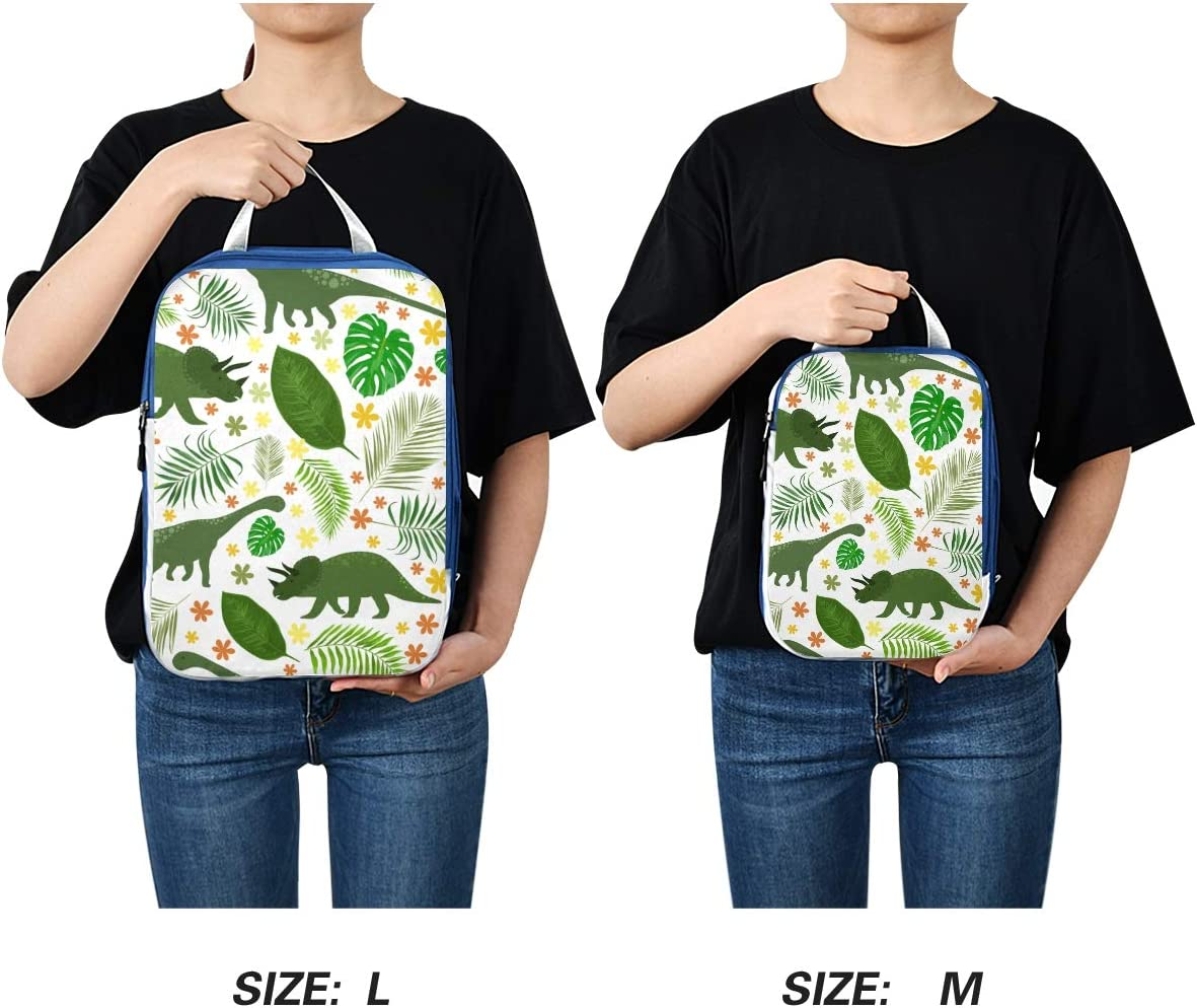 j Dinosaurs And Tropical Leaves 3 Set Packing Cubes,2 Various Sizes Travel Luggage Packing Organizers