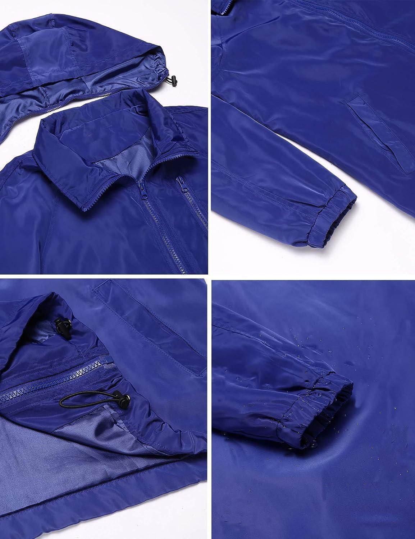 Mofavor Womens Outdoor Lightweight Windbreaker Jacket Short Coat with Hooded HQH025697