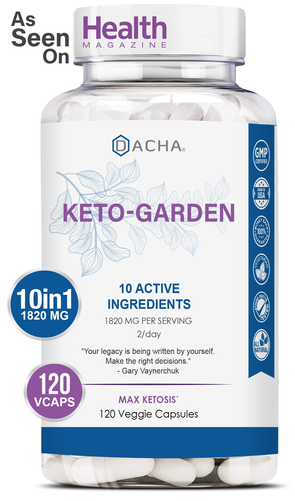 Ultra Fast Keto Boost – 1820 mg KetoGarden Pure Pills, 6X Extreme Rapid Ketosis, Manage Cravings Super Fast, Utilize Fat…