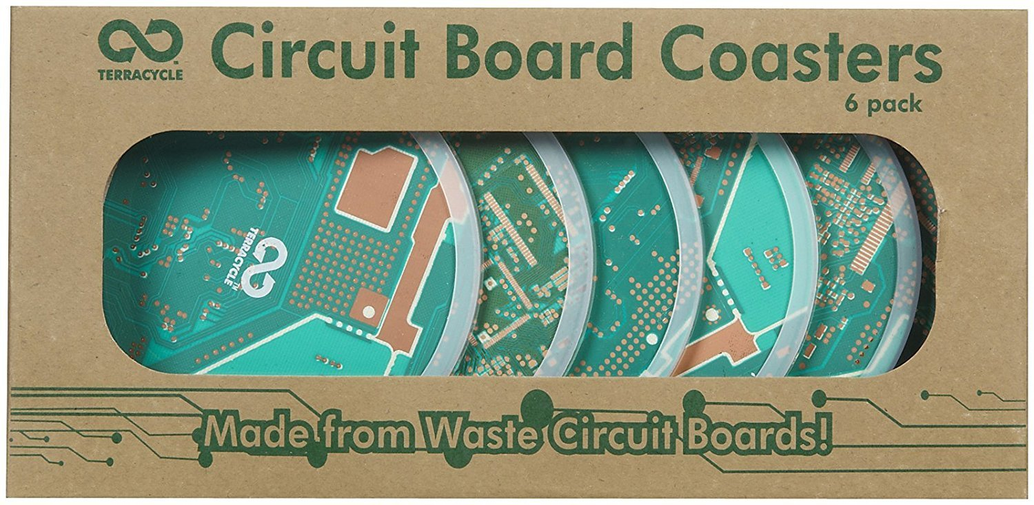 Terracycle Circuit Board Coasters Set Of 6 Kitchen Picture How To Waterproof Boards Epoxy Method Home
