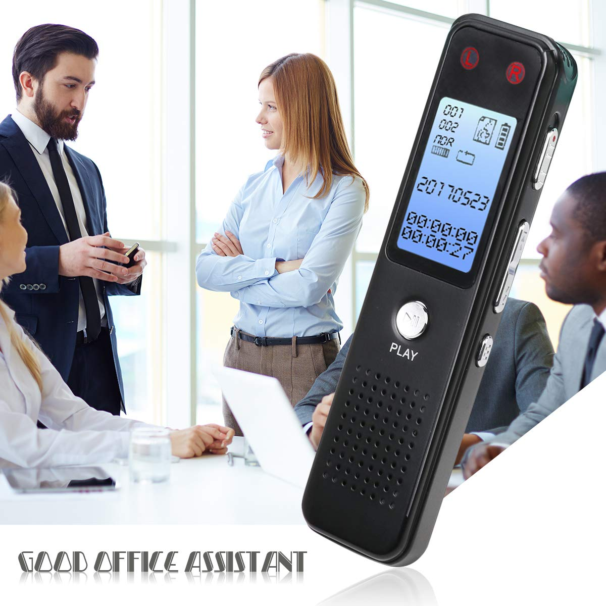 Digital Voice Activated Recorder, Monstleo 8GB Sound Audio Recorder Dictaphone Lectures Meetings