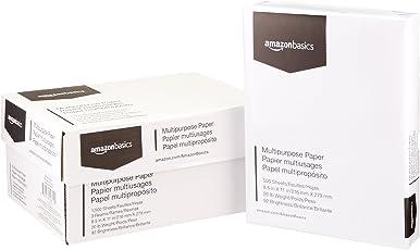 AmazonBasicsPapel multipropósito para copiadora, 3 paquetes de 500 hojas (1500 hojas en total)