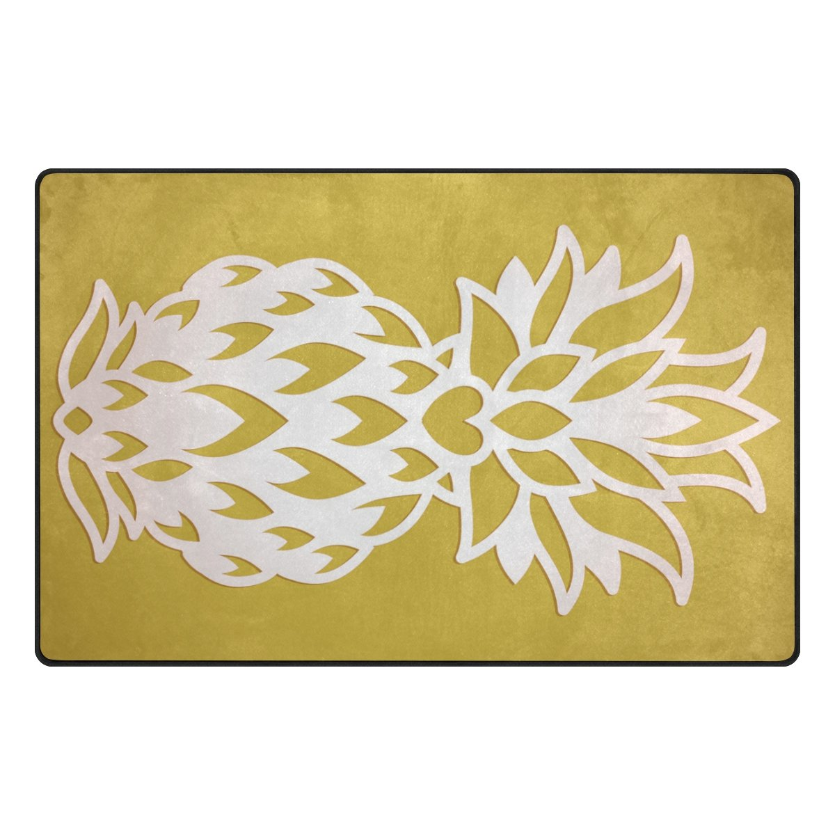 Amazon Com Alaza 31x20 Inches Area Rugs Laser Cut Pineapple