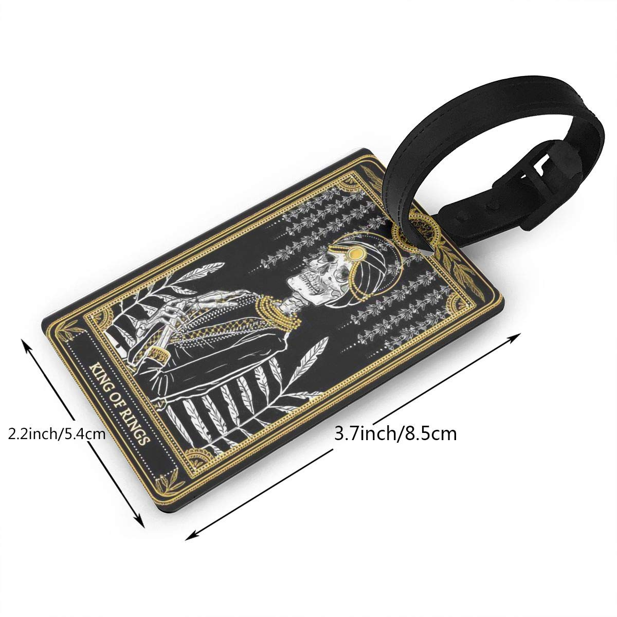2 Pack Luggage Tags Tarot Cards King Of Rings Handbag Tag For Travel Bag Suitcase Accessories