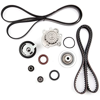 SCITOO Timing Belt Water Pump Tensioner Kit Fit 1998-2004 1.9L Volkswagen Golf Jetta New Beetle SOHC Turbocharged: Automotive