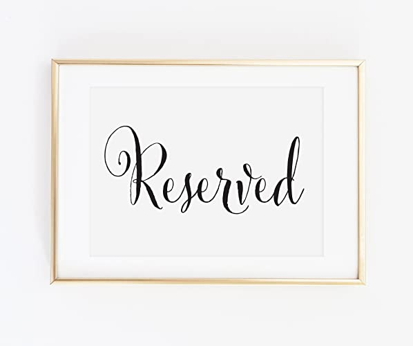 Amazon.com: Reserved Signs for Wedding, Wedding Reserved Sign ...