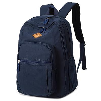 Abshoo Classical Basic Womens Travel Backpack For College Men Water Resistant Bookbag (Navy) | Backpacks
