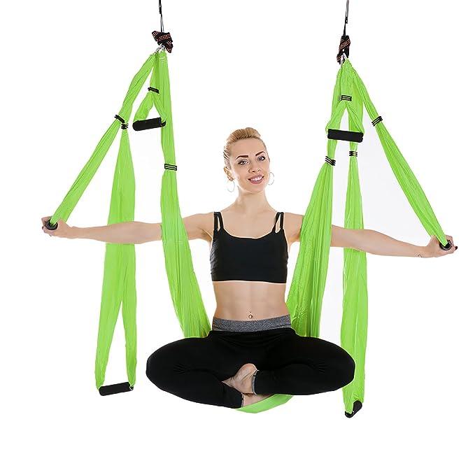 Amazon.com: famlove Yoga hamaca, 6 mango Yoga columpio para ...
