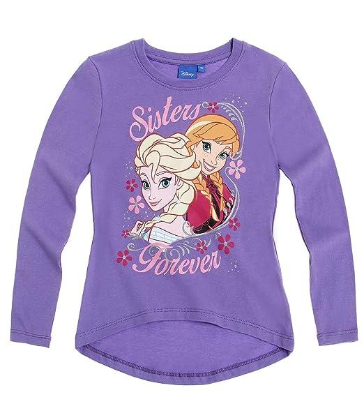 5532eef23 Disney El Reino del Hielo Chicas Camiseta Mangas largas - Violeta   Amazon.es  Ropa y accesorios
