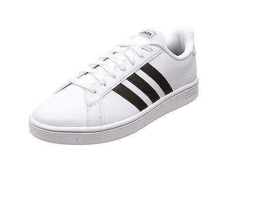 adidas Damen Grand Court Base Tennisschuh, Schwarz/Weiß