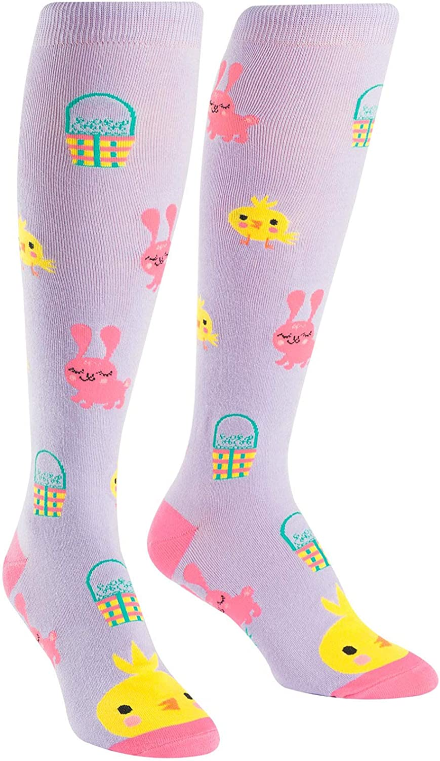 Athletic Sports,Yoga. Easter Womens Knee High Socks Fancy Design Best For Running