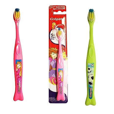 Juego de 2 cepillos de dientes Colgate para niños de 5 años +: ...