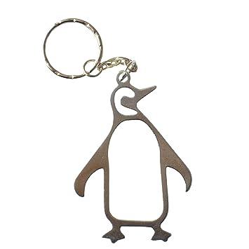 Pingüino llavero abrebotellas llavero de metal por pk verde ...