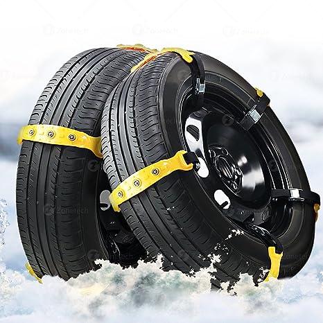 Zone Tech - Cadenas de nieve para coche de alta calidad, resistentes y duraderas,