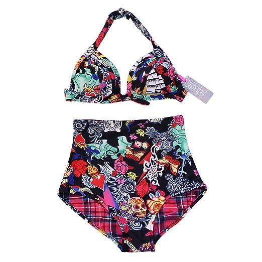32 opinioni per ISHINE Vintage Design- Bikini Donna Costumi da Bagno , Due tipi di Tessuto