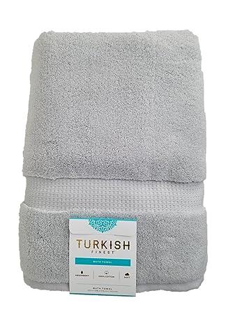 London Luxury Luxury turco mejor algodón toalla de baño 770 Gsm 30 x 58 en (76 x 147 cm) de plata: Amazon.es: Hogar