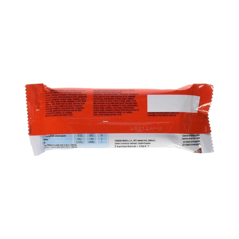 Kinder Bueno - Classic - Pack de 2 barritas - 43 g: Amazon.es: Alimentación y bebidas