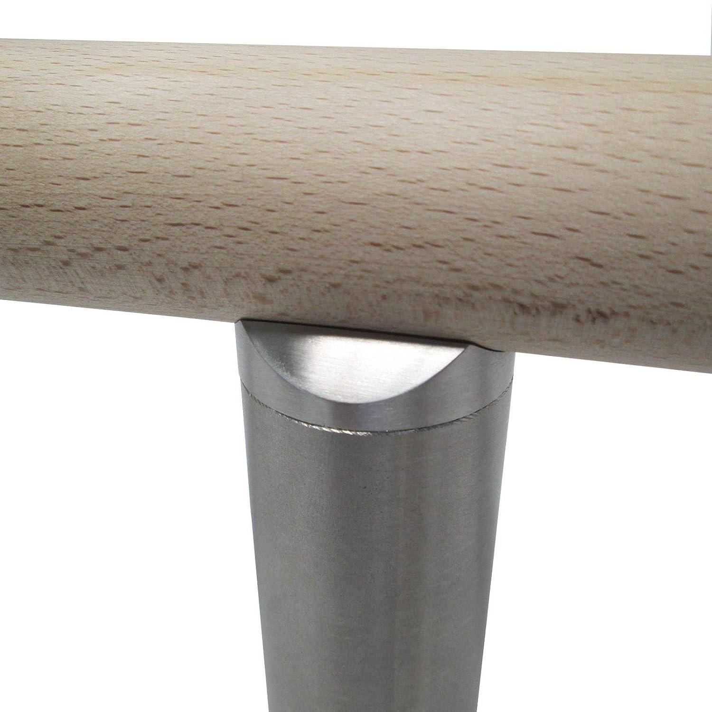Edelstahl Handlaufhalter,massiv,Handlauftr/äger,Rohranschluss f/ür /Ø 42,4 mm Handlauf