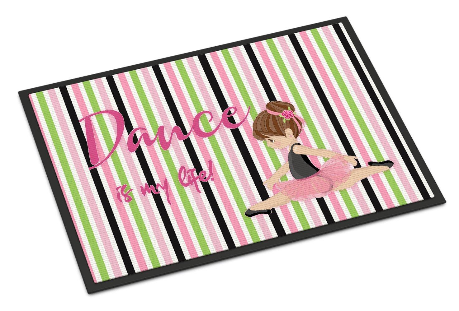 Caroline's Treasures Ballet Dance is my Life Brunette Doormat, 18 H x 27 W'', Multicolor