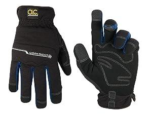 CLC Custom Leathercraft L123L Workright Cold Weather Insulation Flex Grip Work Gloves, Shrink Resistant, Improved Dexterity, Tough, Stretchable, Excellent Grip