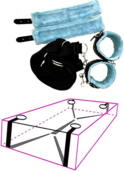Ropes Bed Kit Under Bed Bondage Restraint System Handcuffs Ankle Restraint