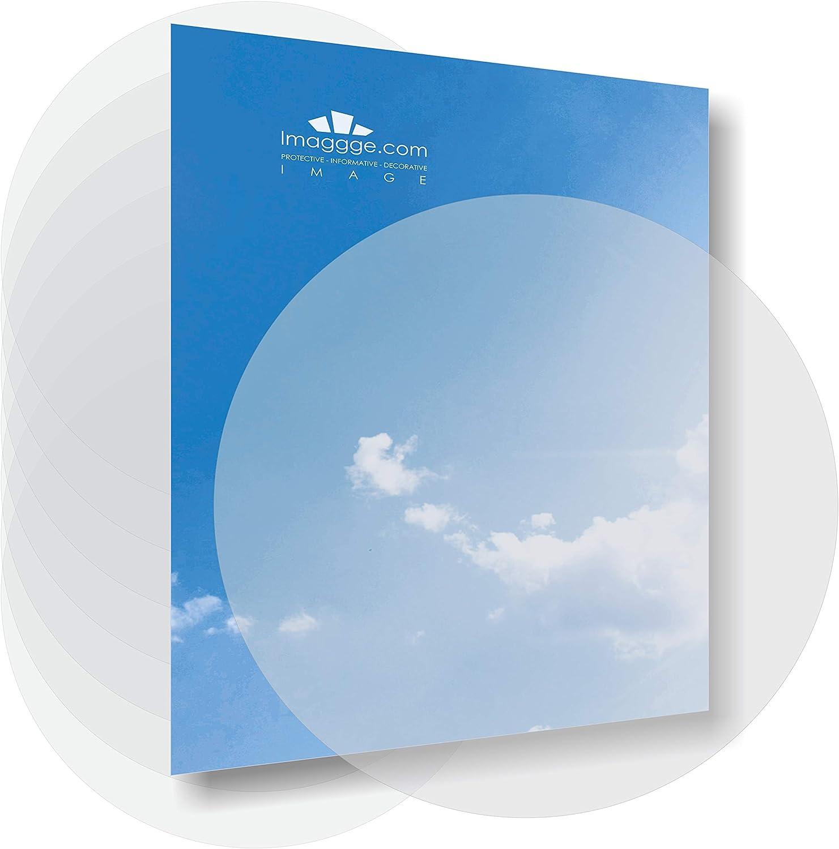 Adhesivos antigolpes para puertas de cristal (juego de 8 redondos arenos-depolis-translúcidos) – 14 cm – 5,5 pulgadas – Señalización – Evita los golpes contra una ventana.