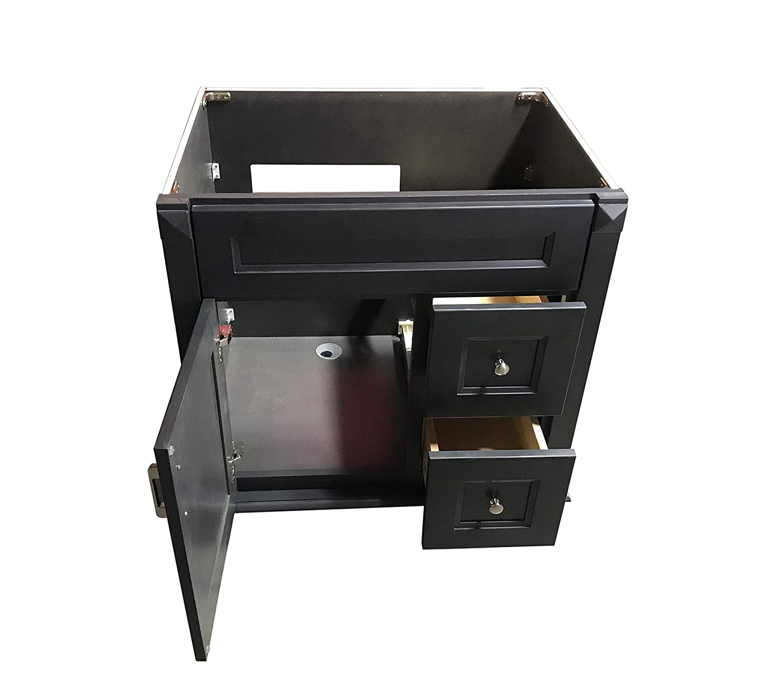 New Carbon Metallic Single-Sink Bathroom Vanity Base Cabinet 24 W x 21 D x 32 H