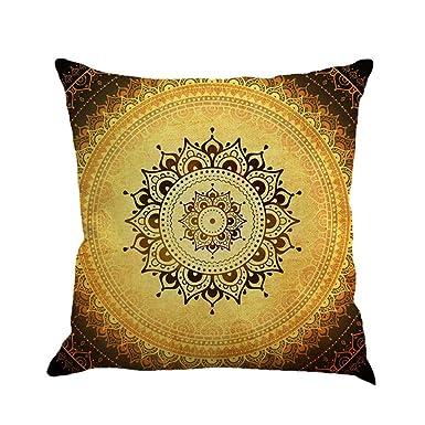 Amazon.com: Funda de almohada cuadrada con diseño floral ...