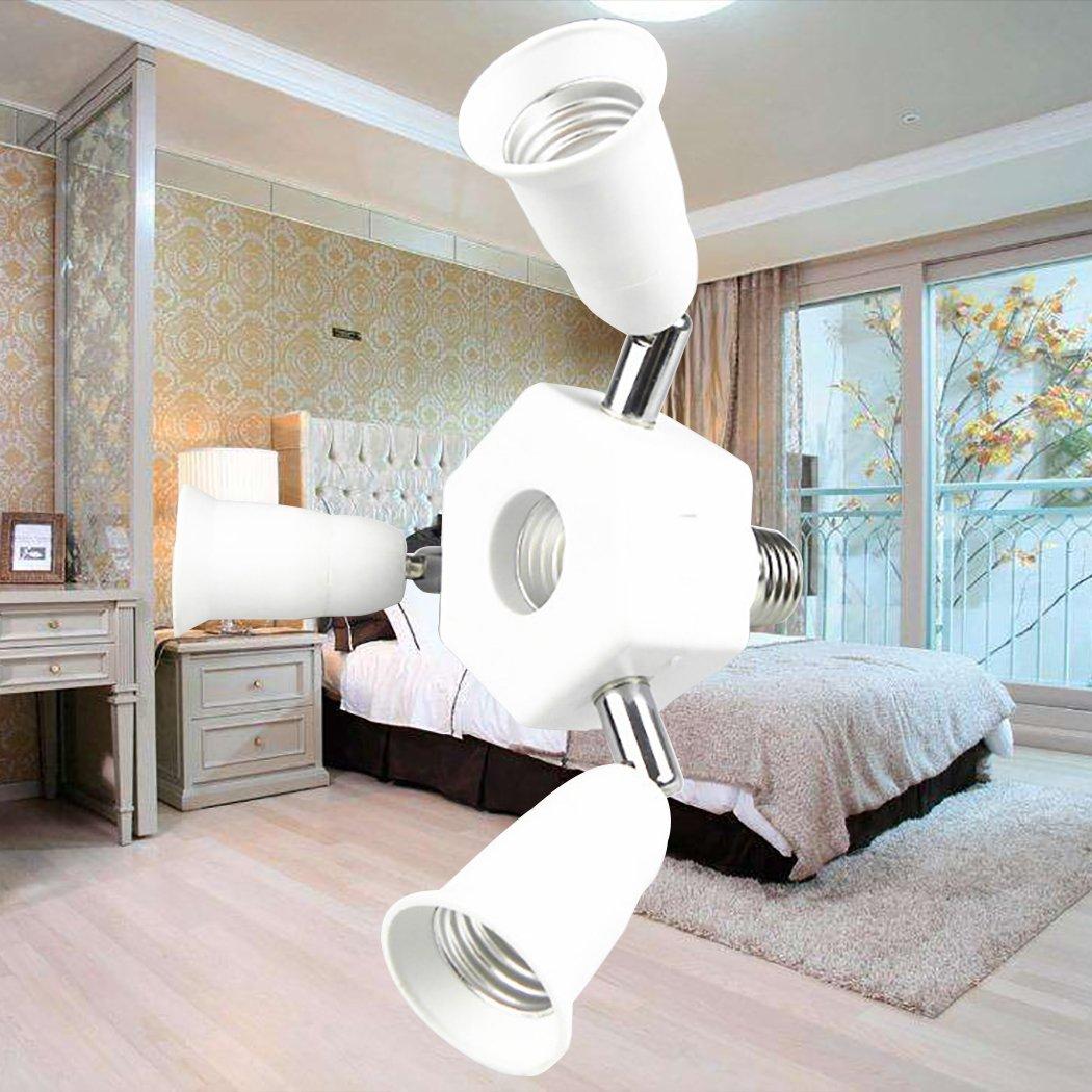 Outgeek Light Socket Splitter 3 in 1 Light Socket Converter 360 Degree Adjustable E27 Bulb Base Adapter by Outgeek (Image #3)