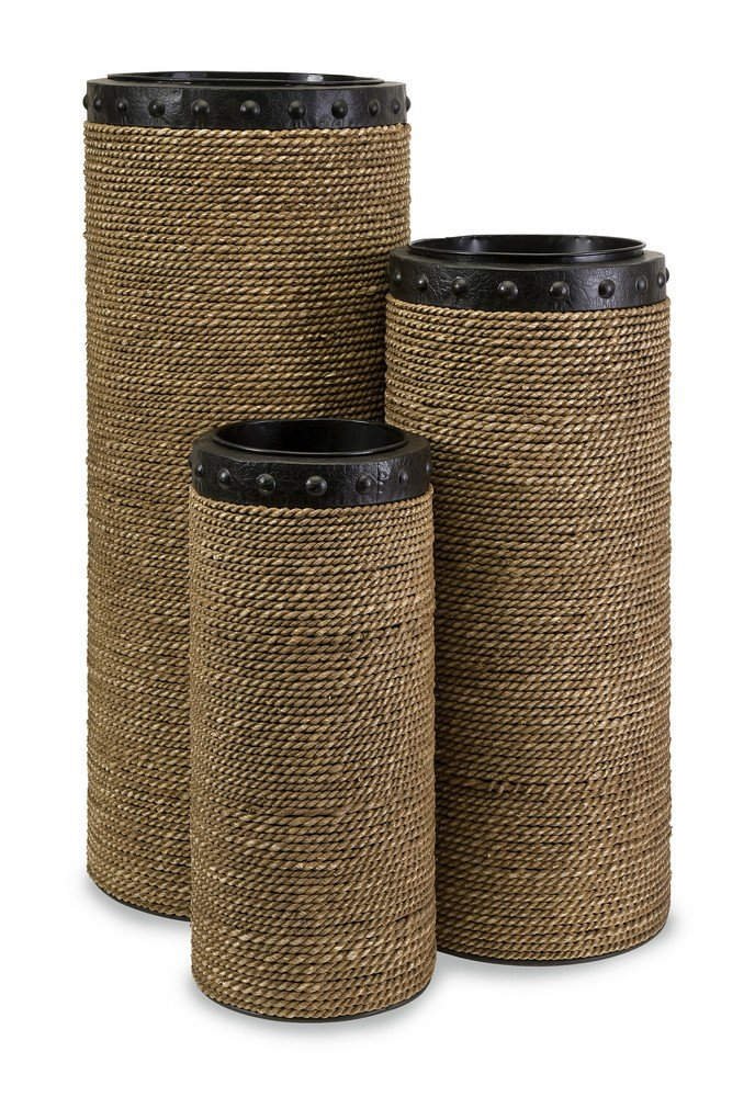 IMAX 47184-3 CKI Brunnel Planters, Set of 3 by IMAX Worldwide by IMAX Worldwide Home