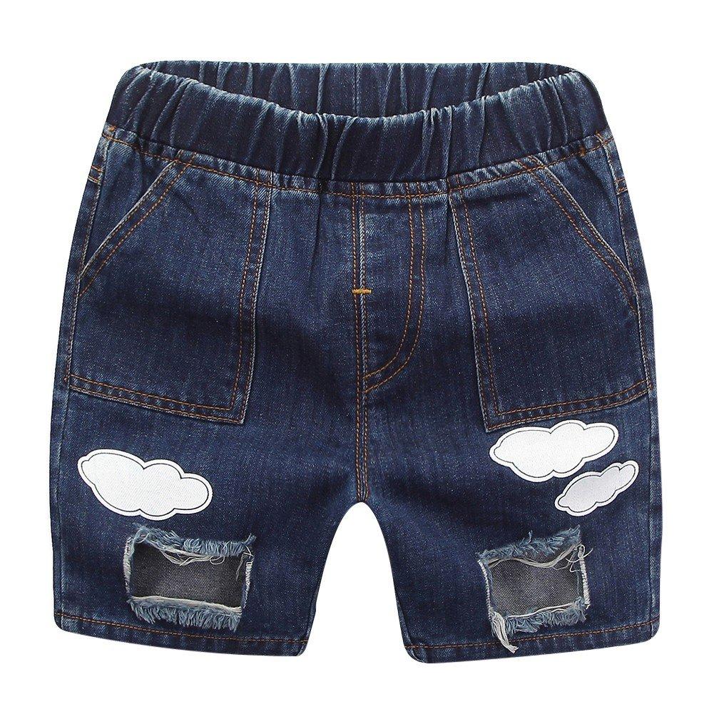 BAOBAOLAI Little Girl Boy Summer Shorts Ripped Holes Hot Jeans Denim Pants Trousers