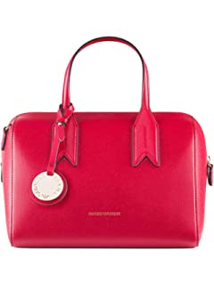 EMPORIO ARMANI FRIDA BOSTON BAG Y3A084YH15A-88158 ROSSO NERO 10ae863017d8e
