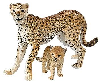 amazon papo パポ社 チーターの親子 50044 wild animals