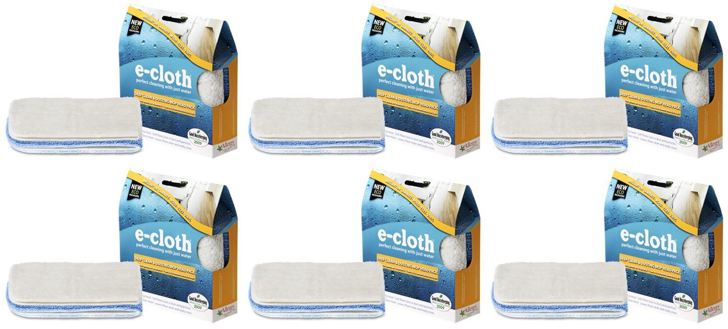(6 PACK) - E-Cloth - Deep Clean & Dusting Mop Head | 2pack | 6 PACK BUNDLE
