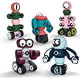 Gifts2U Magnetic Robots,35PCS Magnetic Blocks Set for Kids with Storage Box, Stacking Robots Toy STEM Educational Playset for