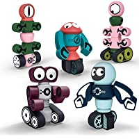 Gifts2U Magnetic Robots,35PCS Magnetic Blocks Set for Kids with Storage Box, Stacking Robots Toy STEM Educational…