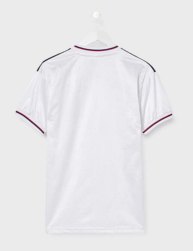 Blanco XL Hombre England 1982 World Cup Finals Camiseta de Inglaterra para Hombre de Inglaterra 1982 Final de la Copa Mundial de Inglaterra 1982