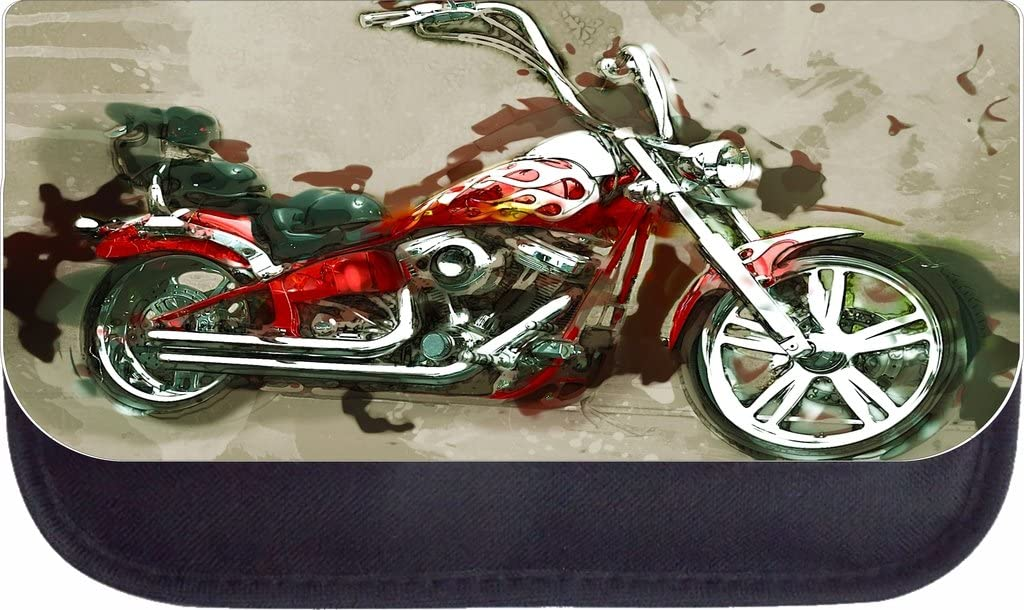 Motorcycle Art Rosie Parker Inc TM School Backpack and Pencil Case Set