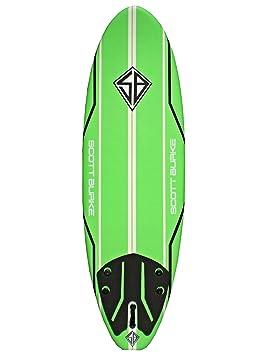 Scott Burke tabla de Softboard, Unisex, para adulto, Unisex adulto, Verde,