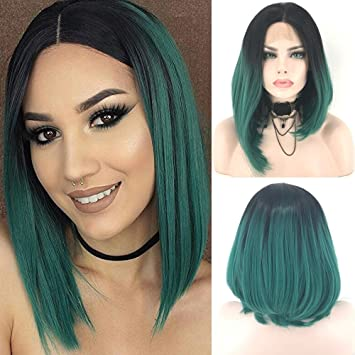 Amazon Com Fennell Natural Looking Short Bob Lace Front Wig