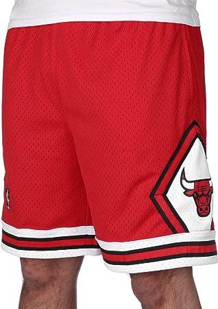 64a6028394 Pantalón corto NBA Swingman Mitchell & Ness Chicago Bulls con bolsillos ...