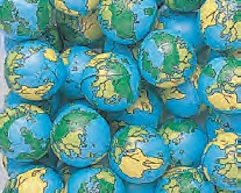 Globe Foiled Milk Chocolate Earth Balls 5LB Bag